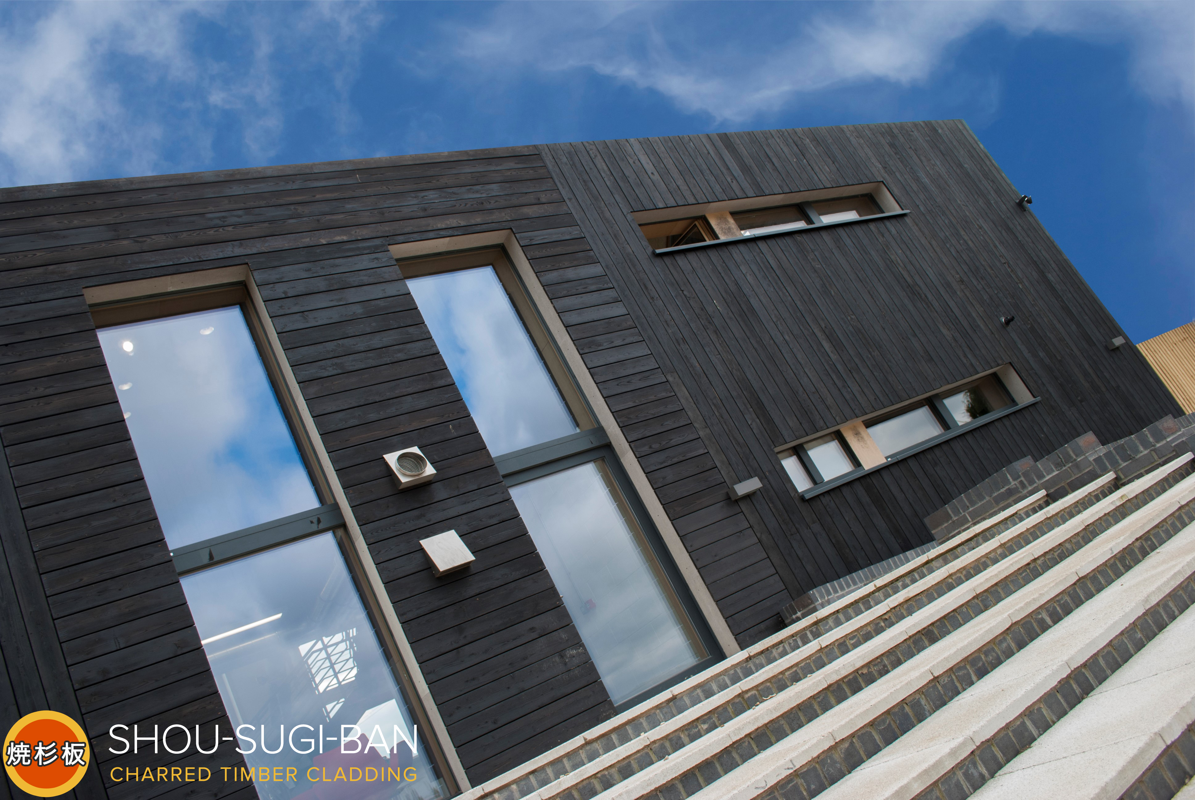 Burnt larch cladding shou sugi ban - Icon exterior building solutions ...