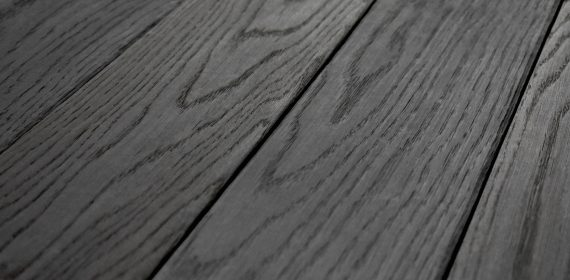 Charred English Oak Wire Brushed cladding swatch in the finish Hokkaido