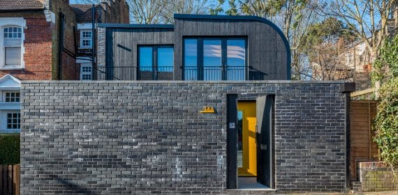 Charred Siberian Larch Shou Sugi Ban Takage cladding used on north London house