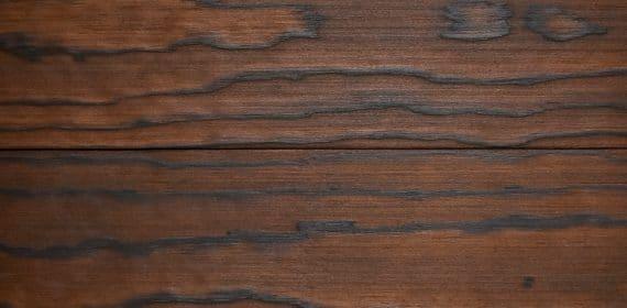 Kebony timber radiata charred swatch in the finish Taketomi